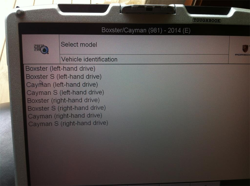 car list of piwis tester ii