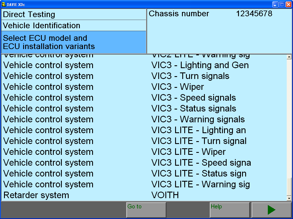 DAF Davie software module list installtion