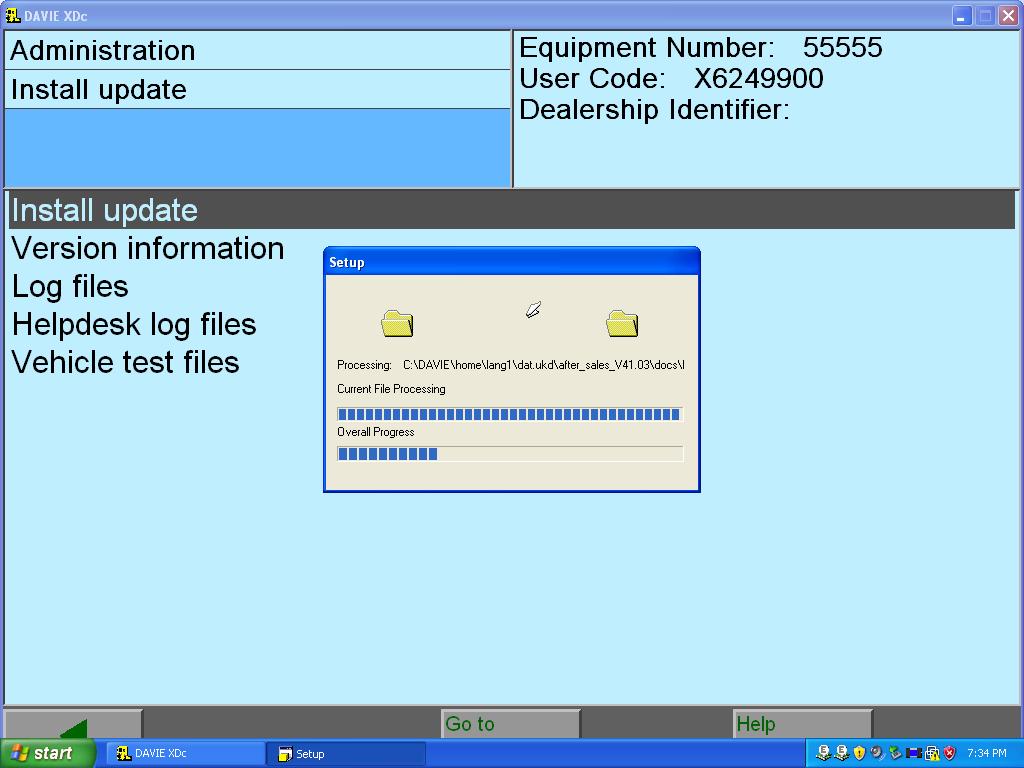 DAF software installtion
