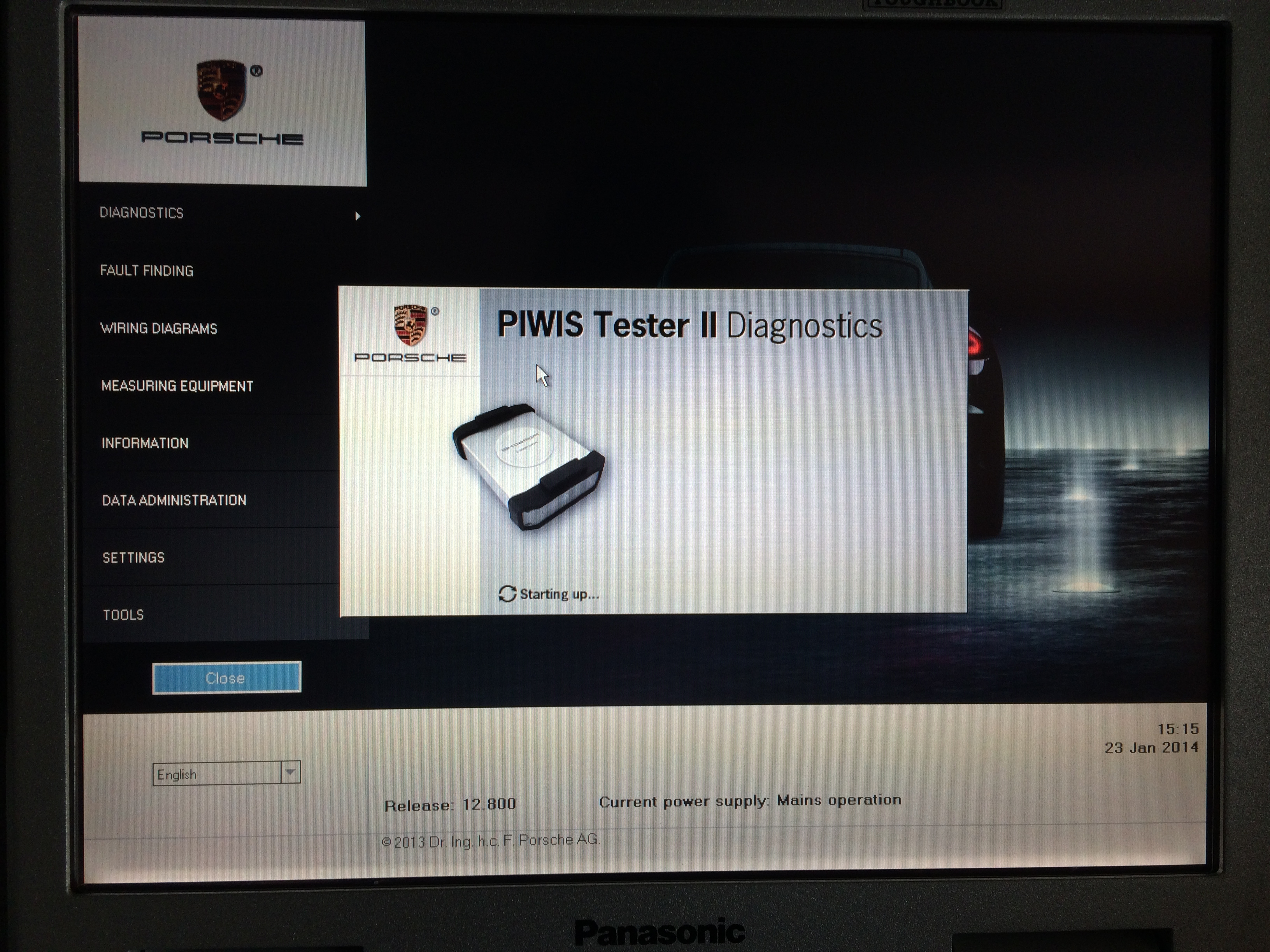 PIWIS TESTER II software start up