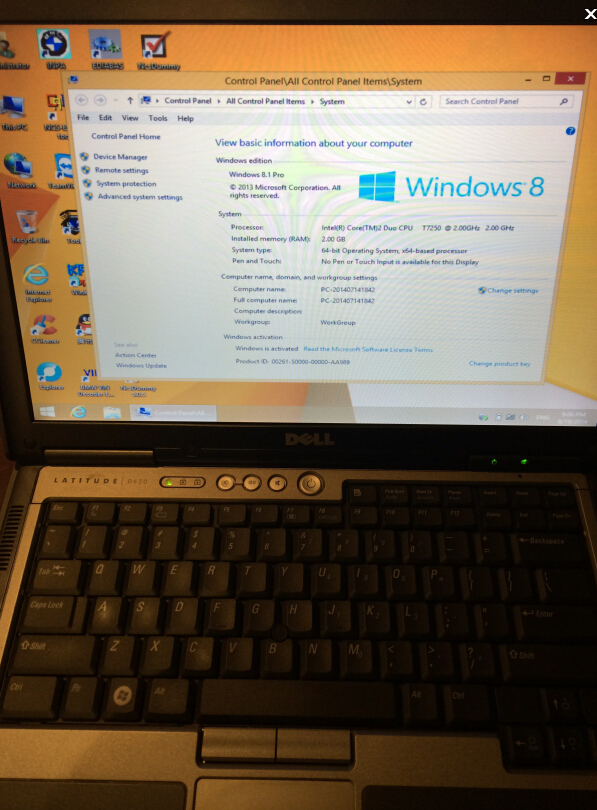 Win 8.1 ICOM SDD with DELL D630 laptop