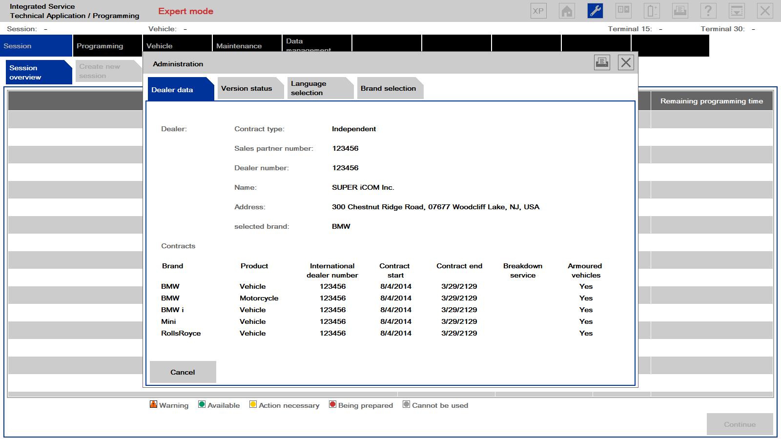 ISTA/P 3.55.0.100