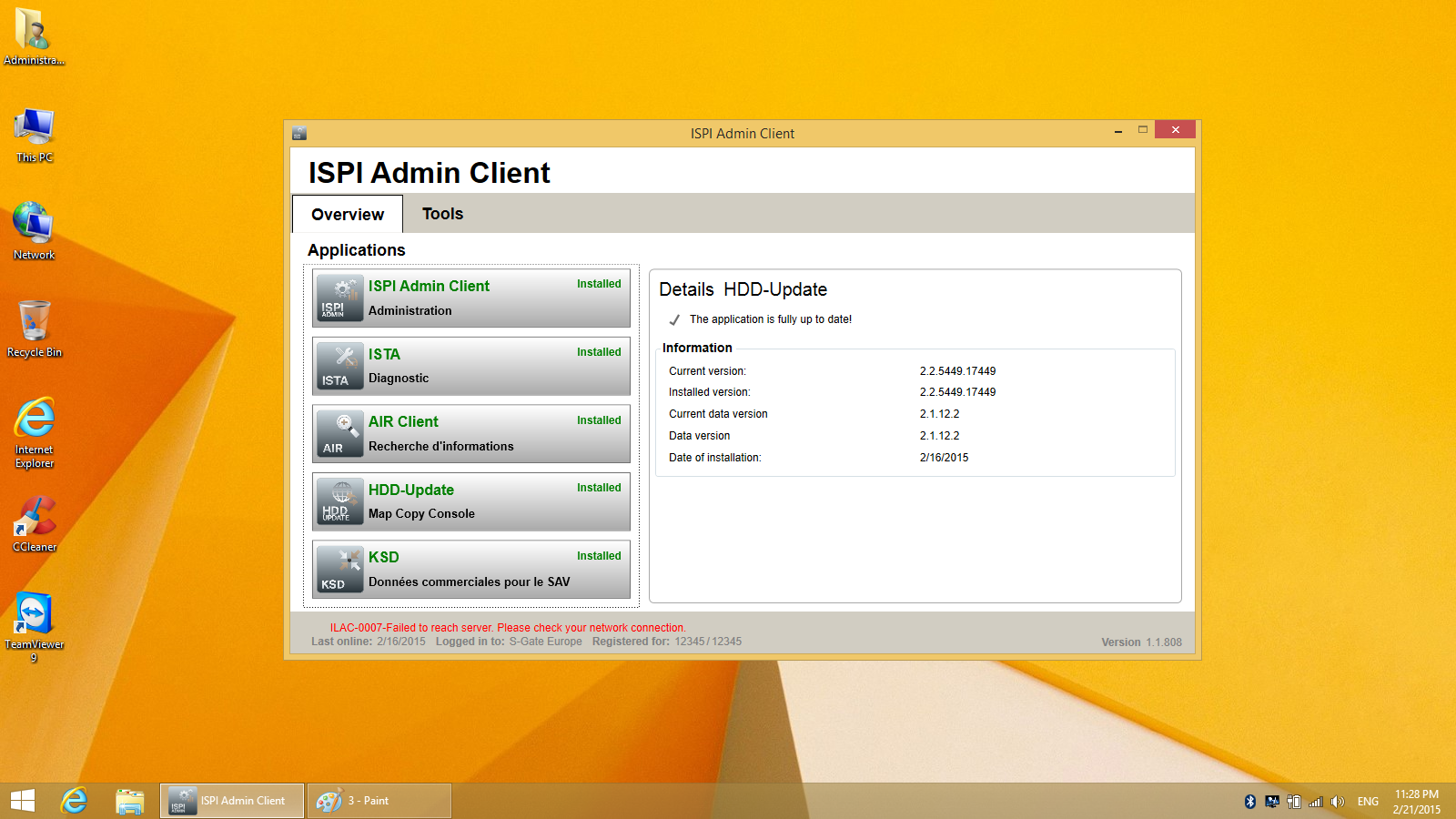 Super iCOM ISPI NEXT HDD Update Version