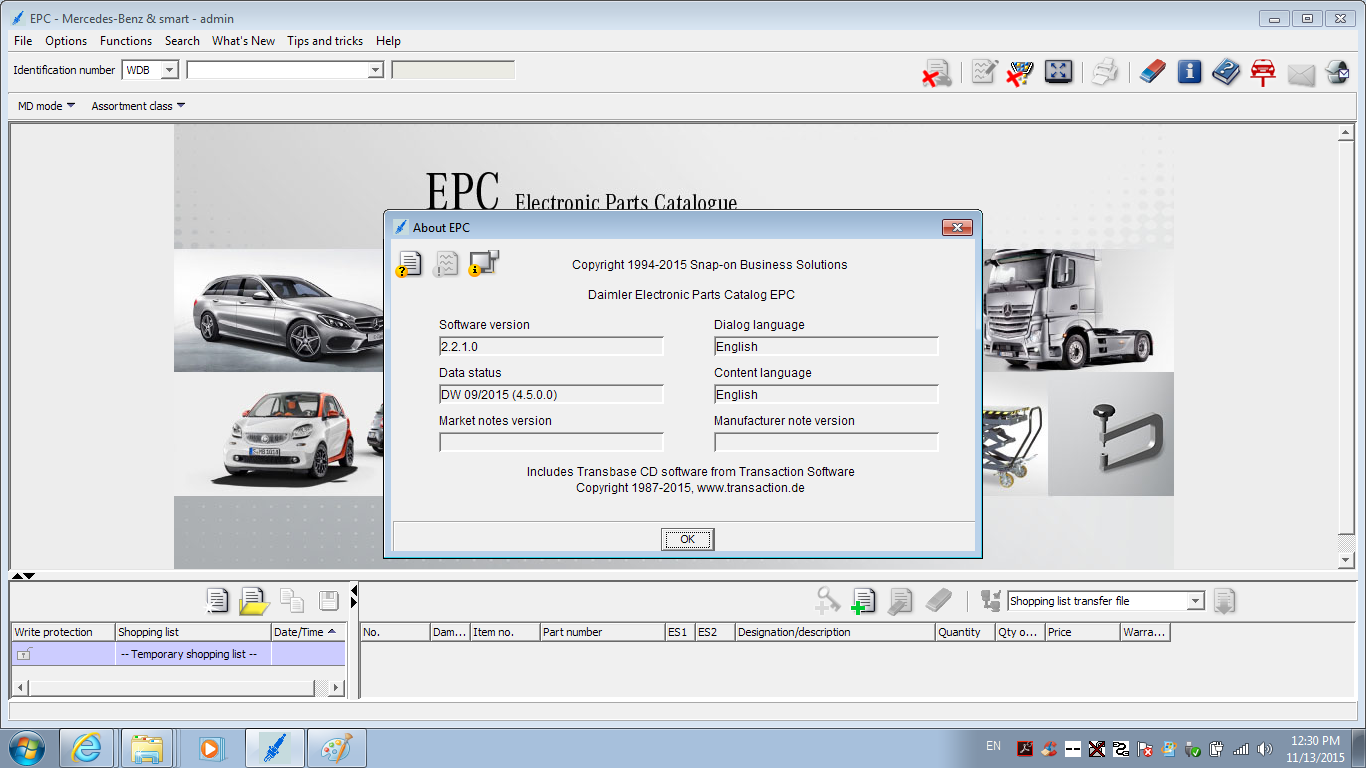BENZ WIN7 EPC Installed