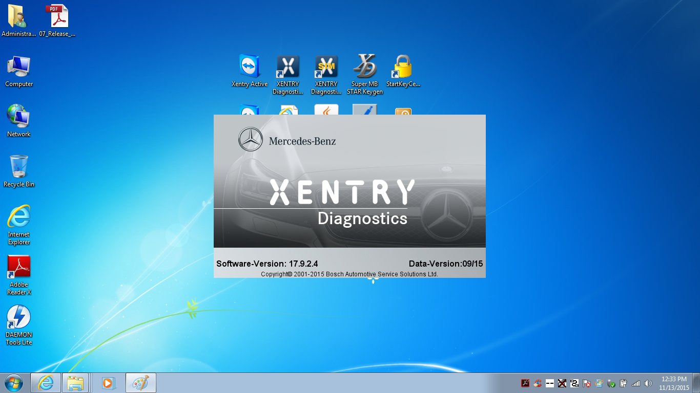 Benz XDOS Win7 OS Xentry