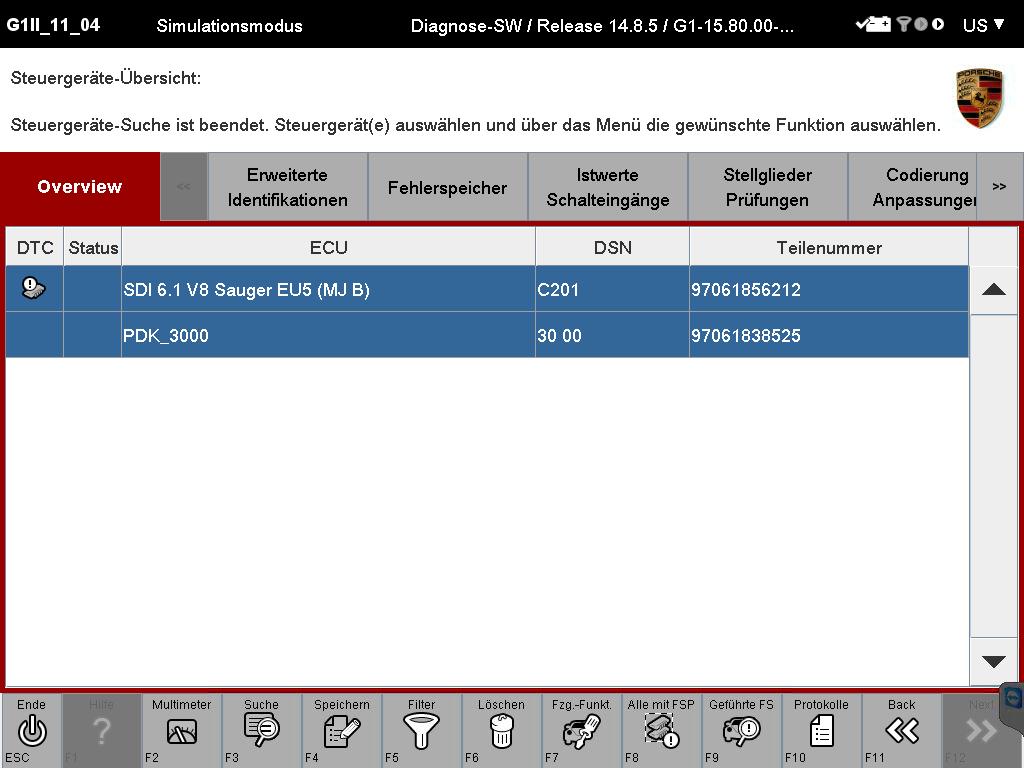PIWIS TESTER II Developer mode