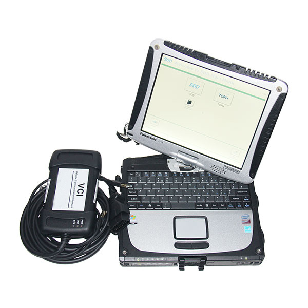 JLR VCI3 with Panasonic Cf19 laptop