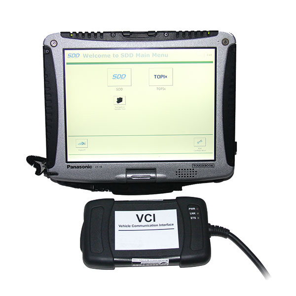 JLR VCI3 with Panasonic Cf19 laptop display