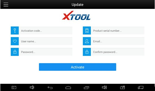XTOOL EZ400 Tablet Register