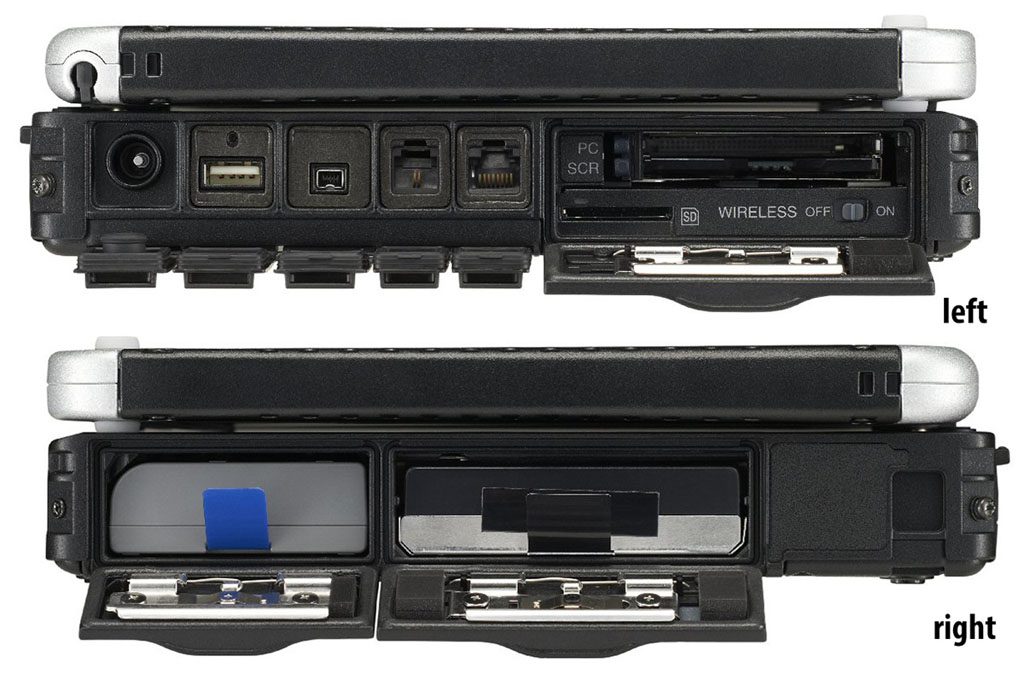 Panasonic CF19 Toughbook Slots