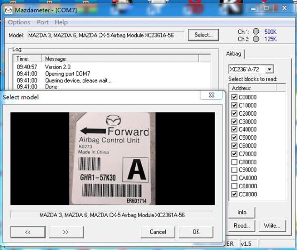 Mazda OBD2 Odometer Correct Software