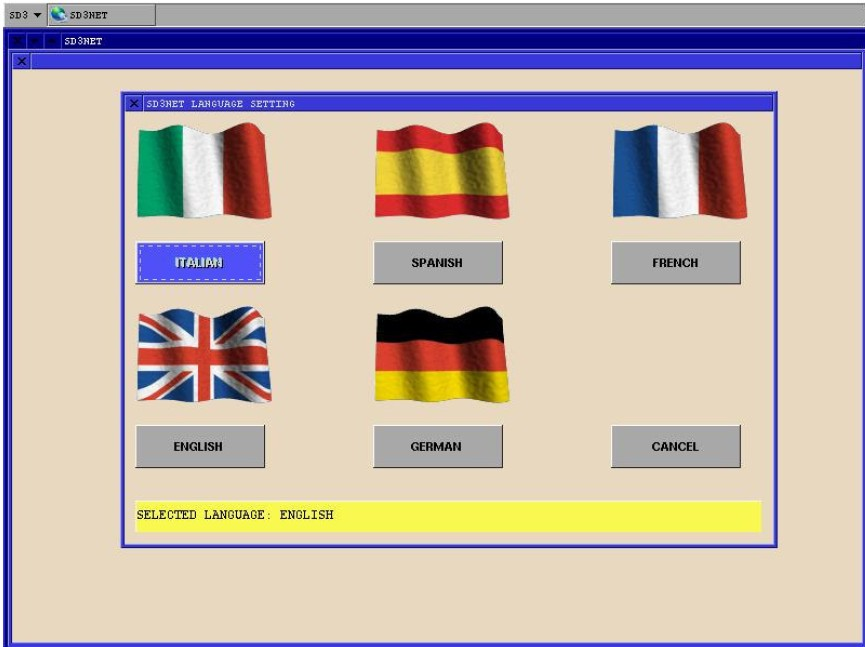 SD3 Diagnostic Scanner Software Language