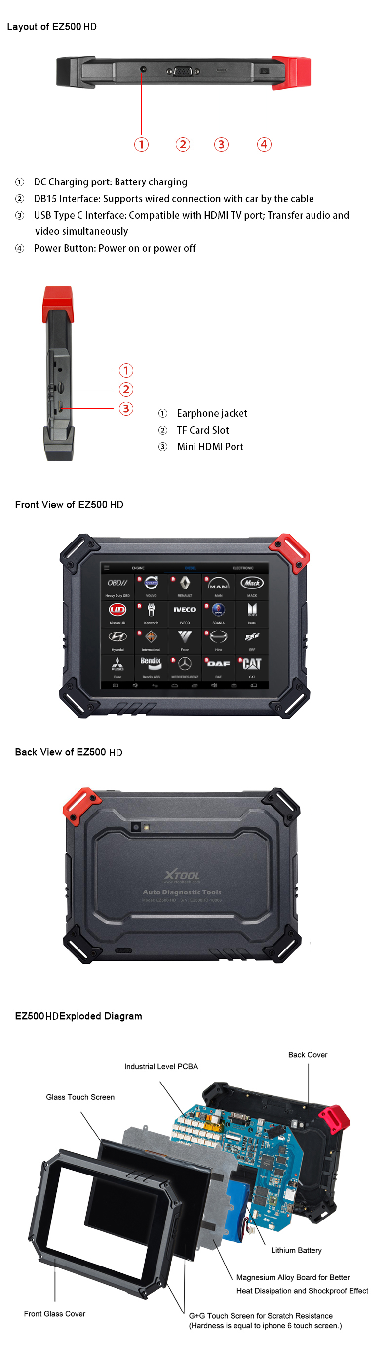 XTOOL EZ500HD Hardware Details