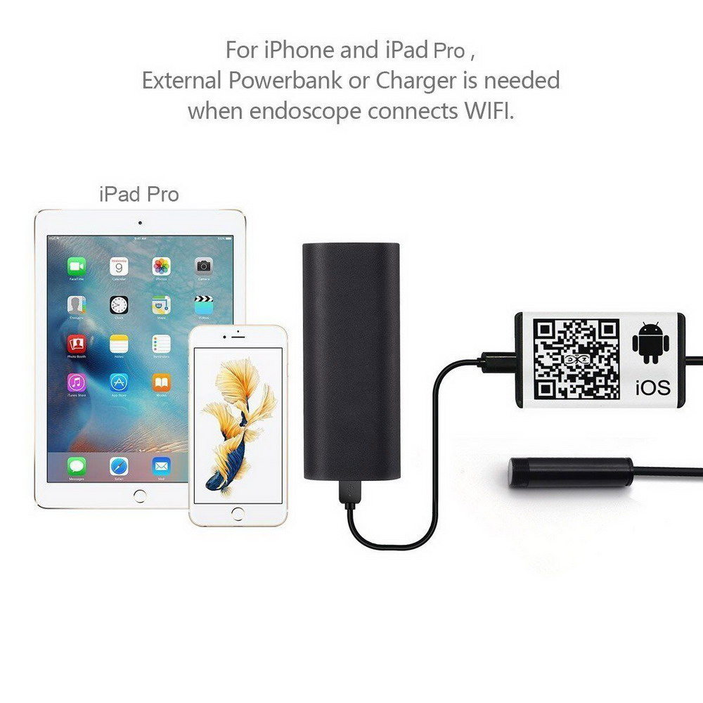 Phone Wireless Endoscope For Andriod/IOS Connection