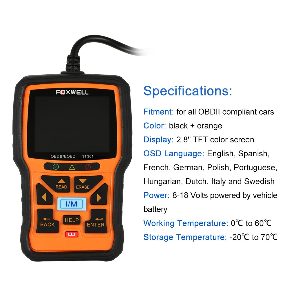 Foxwell NT301 Specification