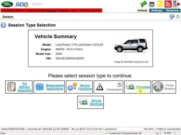 JLR NANO Enginner Vehicle Confirm