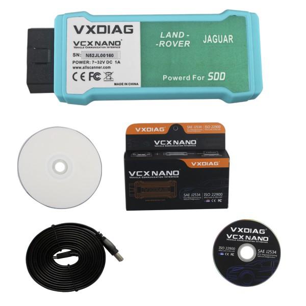 VXDIAG VCX NANO JLR For LandRover/Jaguar WIFI V143