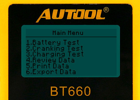 AUTOOL BT660 Main Function