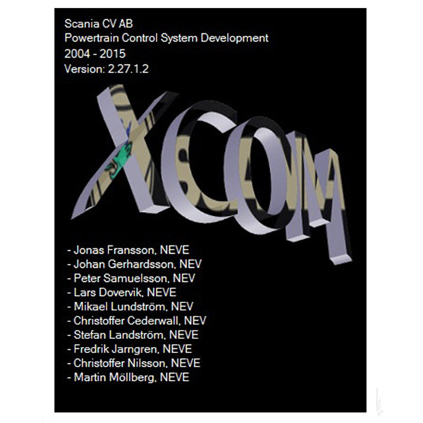 Scania Developer Software XCOM