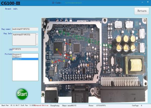 CG100 PROG 3 Function Details