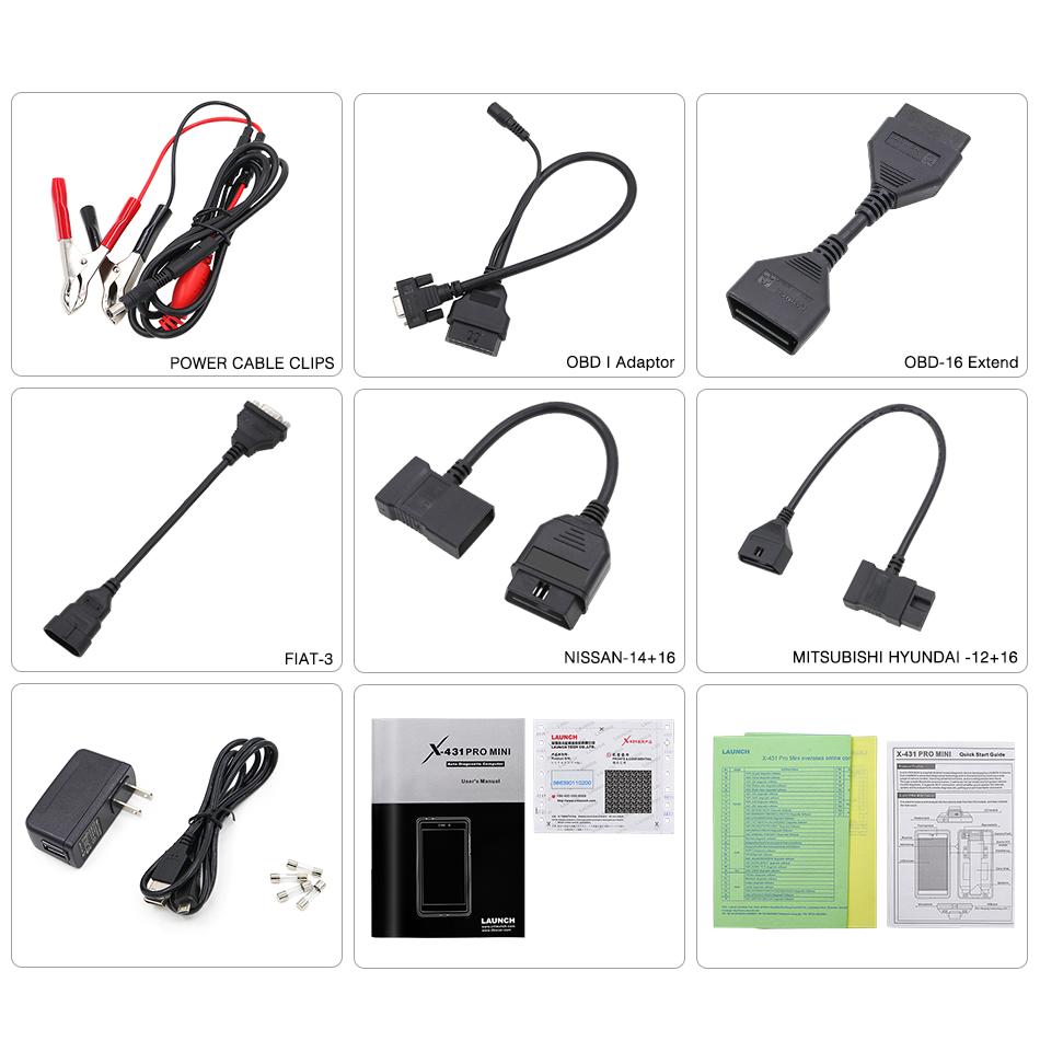 X431 Pro Mini Cables