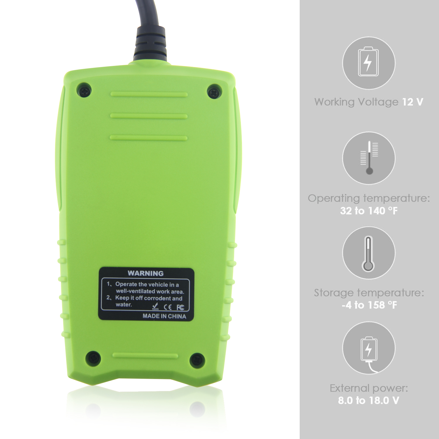 FasCheck BT-200 Specifications