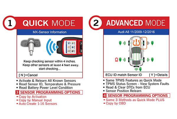 Autel TS508 Two Modes