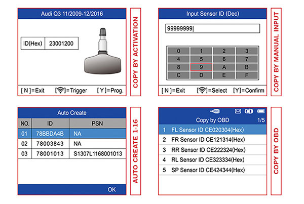 Autel TS508 Test