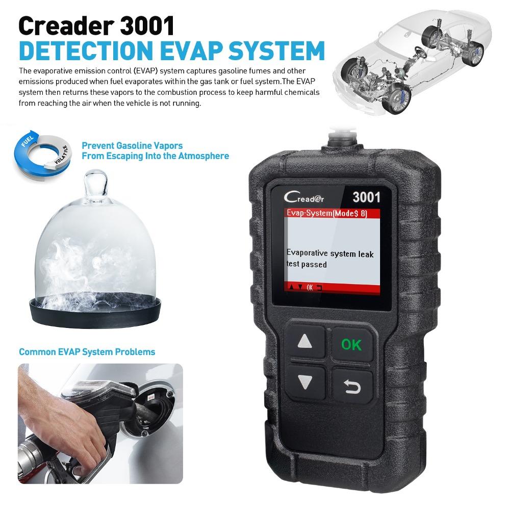 CR3001 Code reader EVAP System test